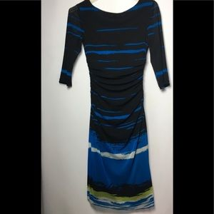 Kay Unger New York  Dress Ruched Bodycon Dress